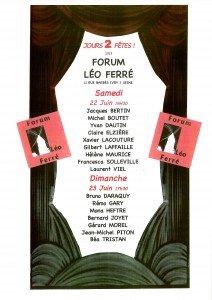 JOURS 2 FÊTES AU FORUM LéO Ferré affiche-22-23-juin-2-212x300