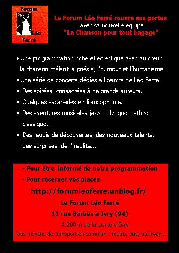 Au Forum Léo Ferré, la rentrée c'est maintenant! dans articles flyer-1-image6